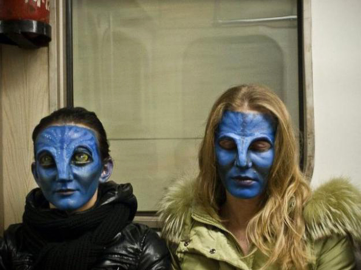 Странные люди, которых можно встретить в метро, 40 фото